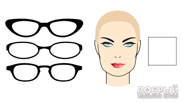 форма очков для квадратного лица