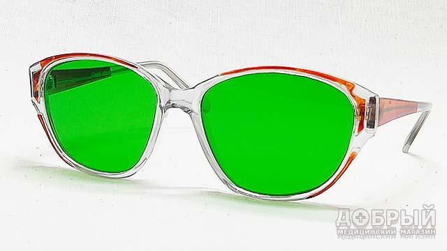 Глаукомные зелёные очки
