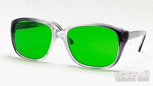 Готовые очки с зелёными стёклами