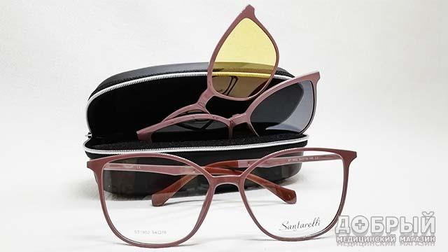 женские очки с клипами не дорого