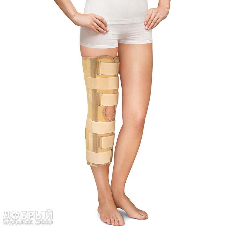 Бандаж фиксирующий коленный усиленный тутор