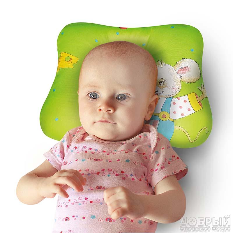 Детская ортопедическая подушка-бабочка