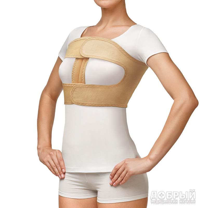 Бандаж фиксирующий по линии груди женский Польза