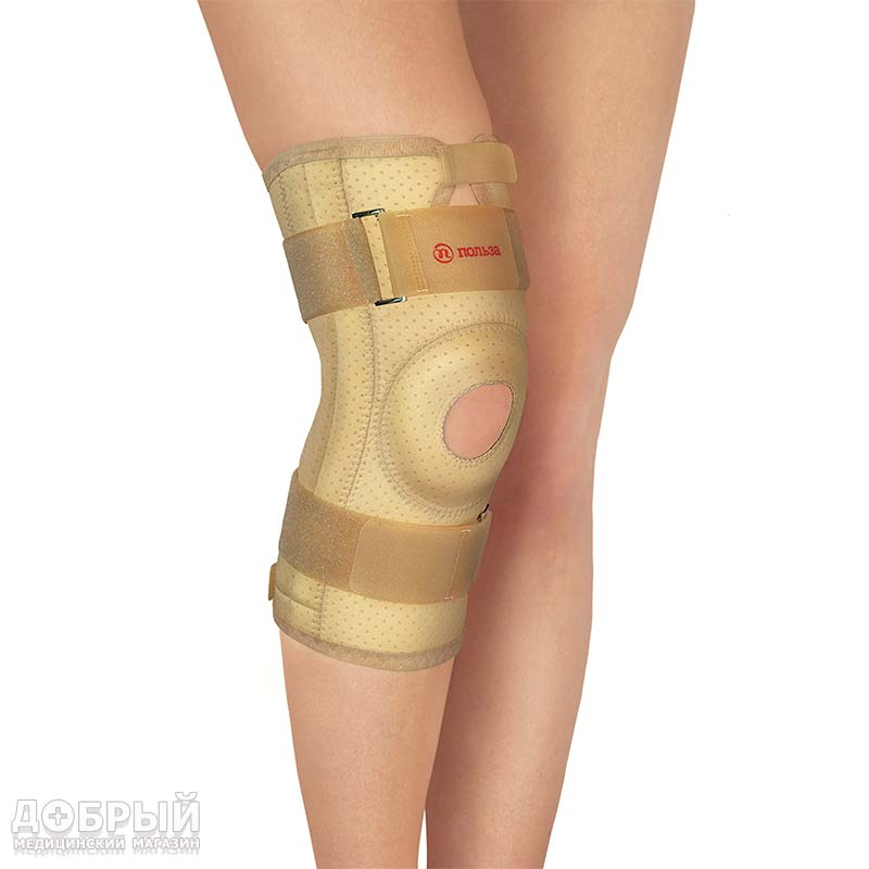 Бандаж на коленный сустав со спиральными рёбрами жесткости